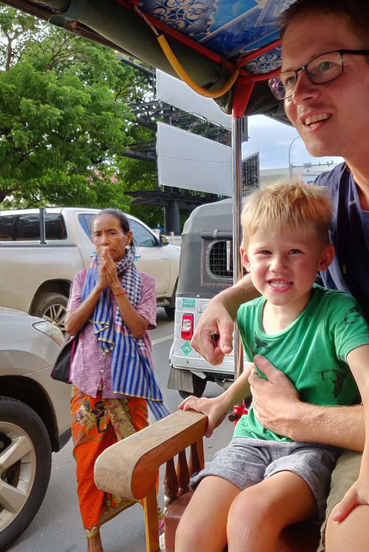 Cambodja met kinderen - Phnom Phen