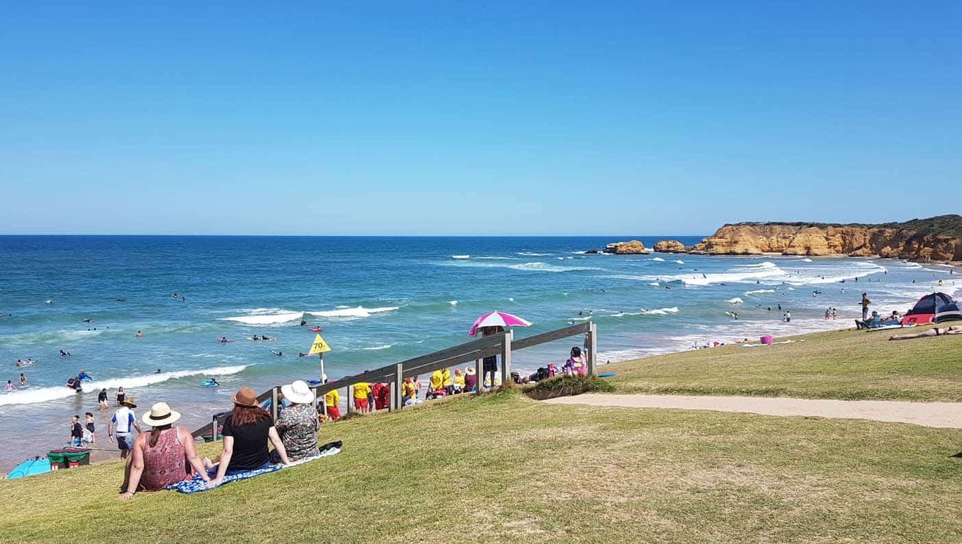 Australie met kinderen Torquay beach